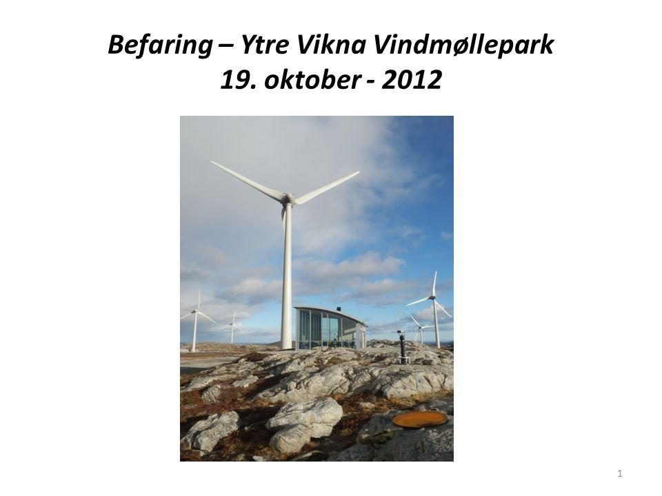 Befaring – Ytre Vikna Vindmøllepark 19. oktober - 2012 1
