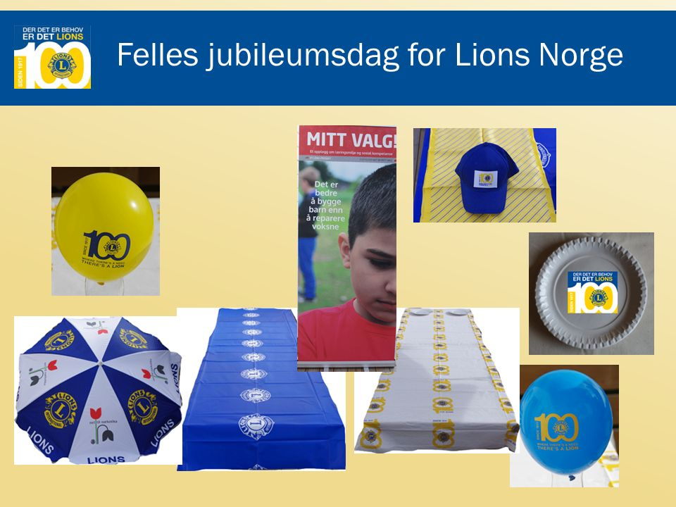 Felles jubileumsdag for Lions Norge