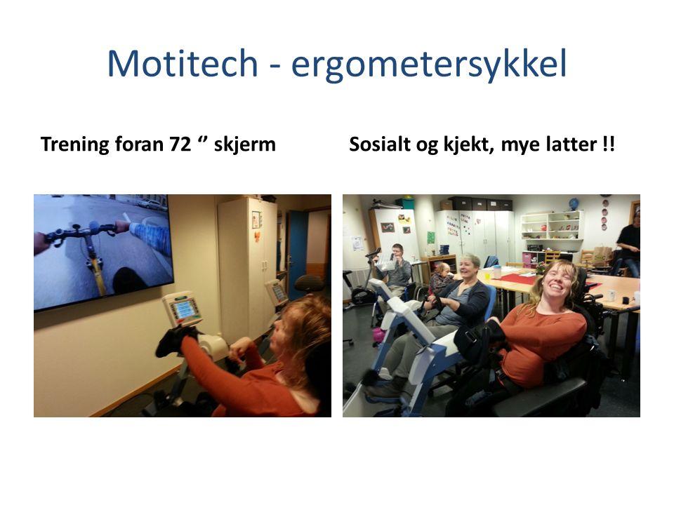 Motitech - ergometersykkel Trening foran 72 '' skjermSosialt og kjekt, mye latter !!