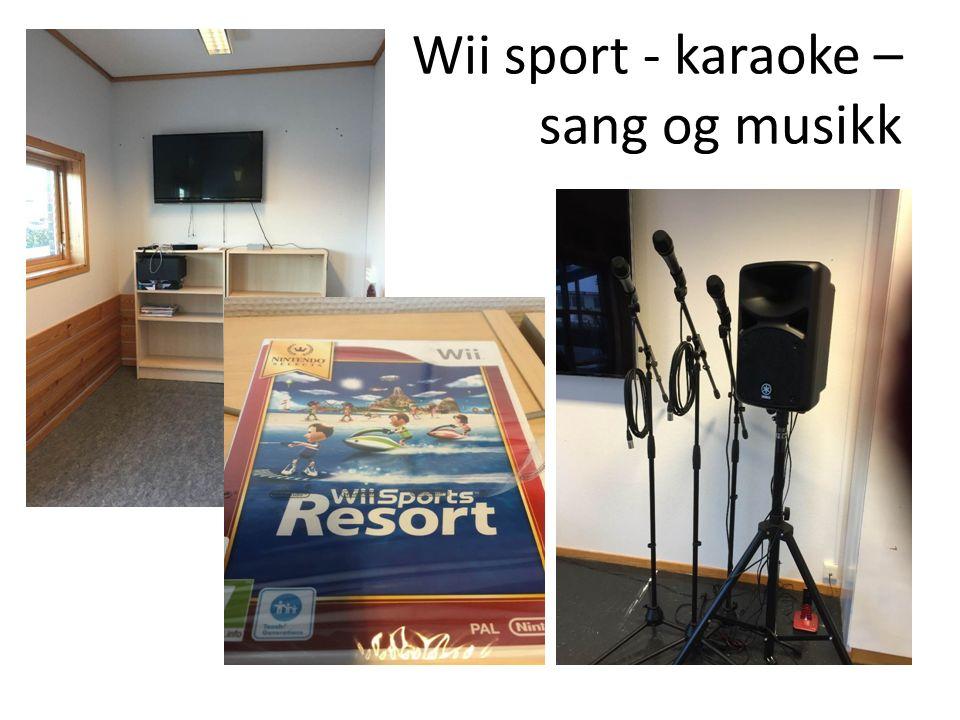 Wii sport - karaoke – sang og musikk