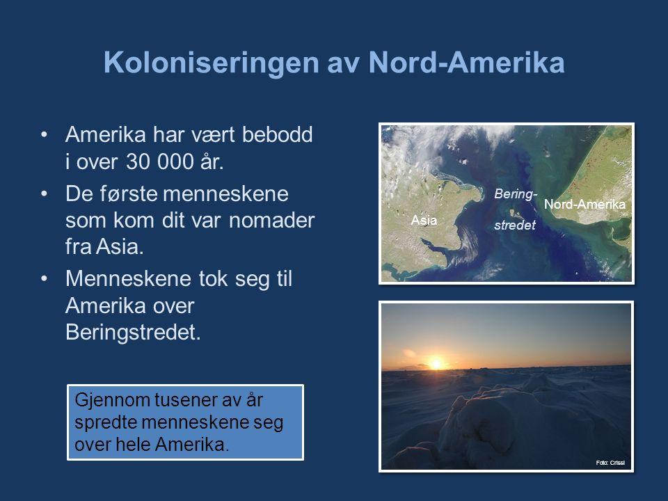 Amerika har vært bebodd i over 30 000 år. De første menneskene som kom dit var nomader fra Asia.
