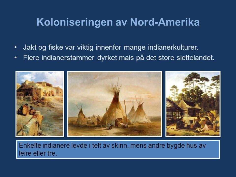 Koloniseringen av Nord-Amerika Jakt og fiske var viktig innenfor mange indianerkulturer.
