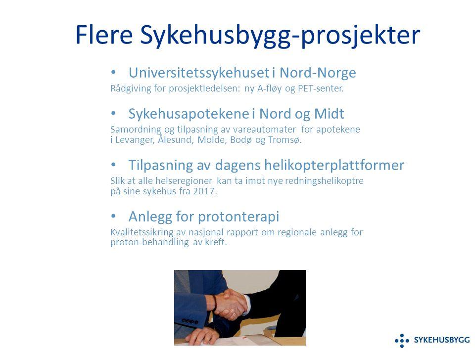 Flere Sykehusbygg-prosjekter Universitetssykehuset i Nord-Norge Rådgiving for prosjektledelsen: ny A-fløy og PET-senter.