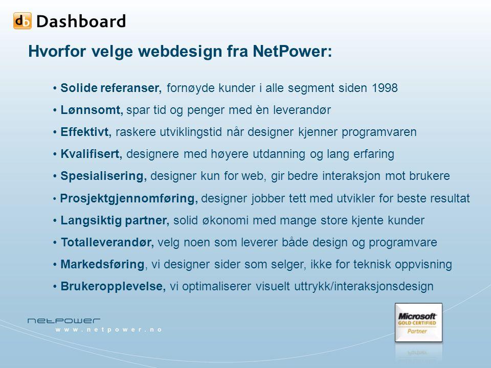 Siste prosjekter webdesign