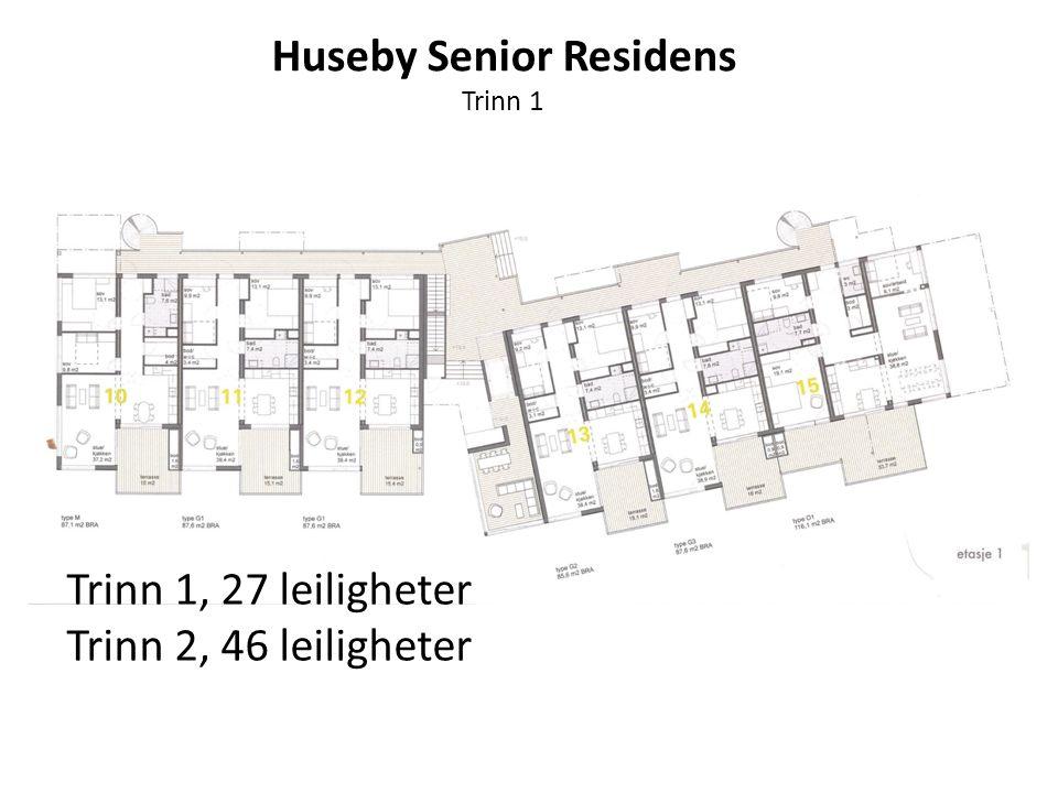 Trinn 1 Trinn 1, 27 leiligheter Trinn 2, 46 leiligheter