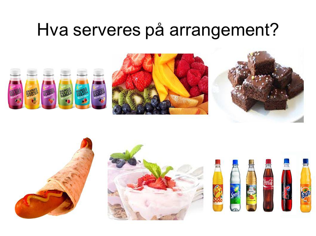 Hva serveres på arrangement?