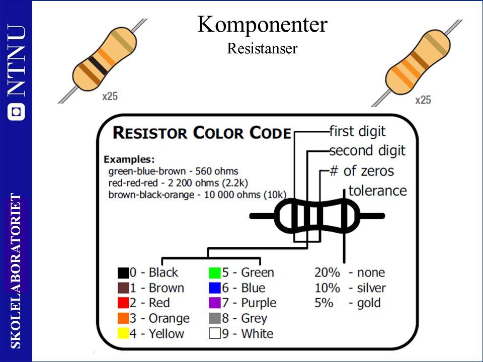 14 SKOLELABORATORIET Komponenter Resistanser