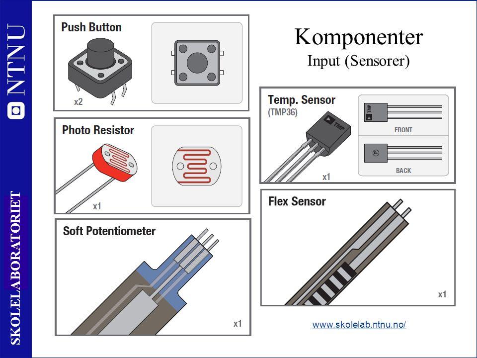 15 SKOLELABORATORIET www.skolelab.ntnu.no/ Komponenter Input (Sensorer)