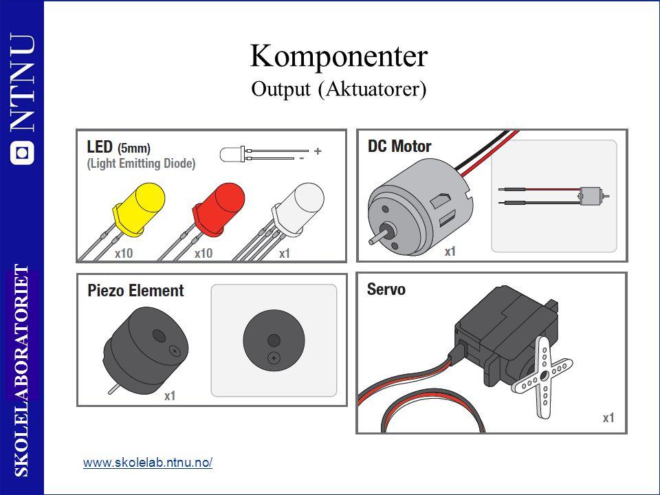 16 SKOLELABORATORIET www.skolelab.ntnu.no/ Komponenter Output (Aktuatorer)