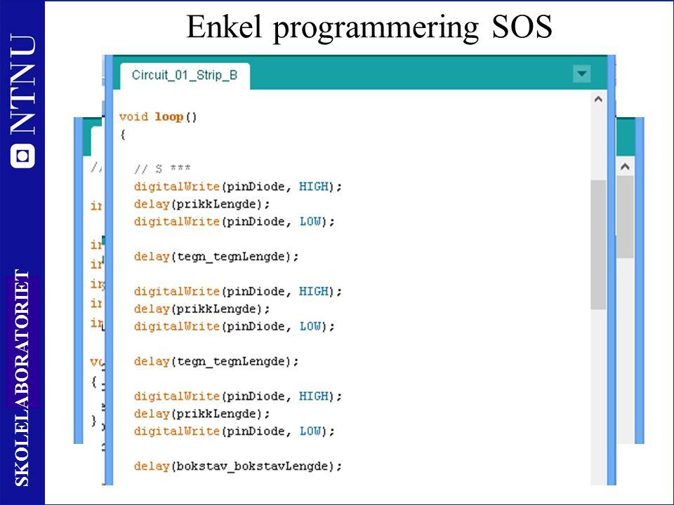 39 SKOLELABORATORIET Enkel programmering SOS