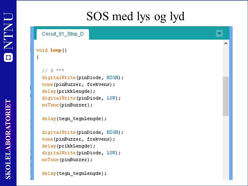44 SKOLELABORATORIET SOS med lys og lyd www.skolelab.ntnu.no/