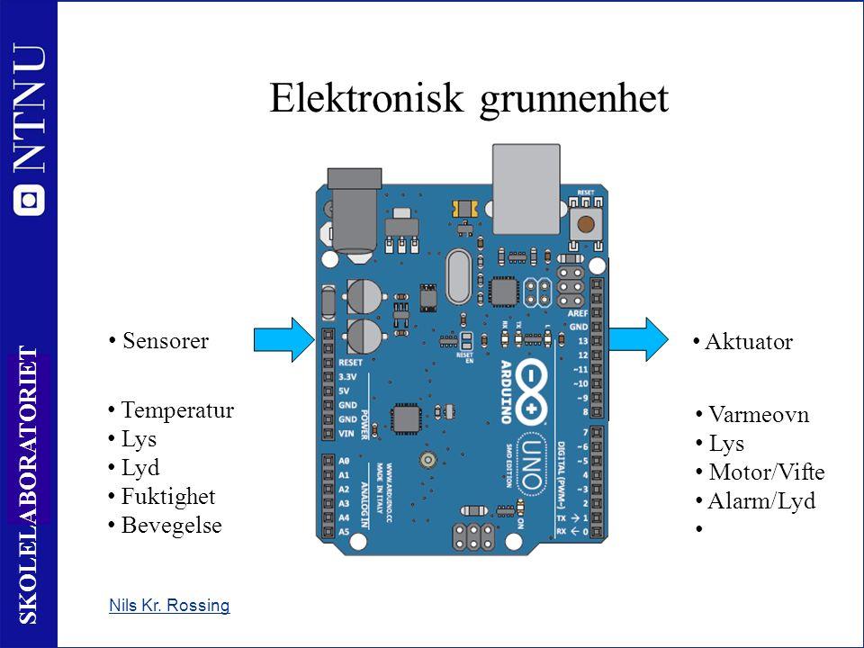 7 SKOLELABORATORIET Mikrokontrollere og mikroprosessorer Mikrokontroller 8 pin www.skolelab.ntnu.no/ +4,5V 1 0V 8 Intern hukommelse Databehandlingsenhet Innganger Utganger In 4 3 4 In 3 Out 2 5 Out 1 6 7 Inngang 0 til +V (0 eller 1) ADC leser verdien av en spenning IR – Leser info fra fjernkontroll Utgang 0 til +V (0 eller 1) Tune - lydutgang