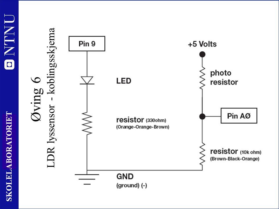 80 SKOLELABORATORIET Øving 6 LDR lyssensor - koblingsskjema