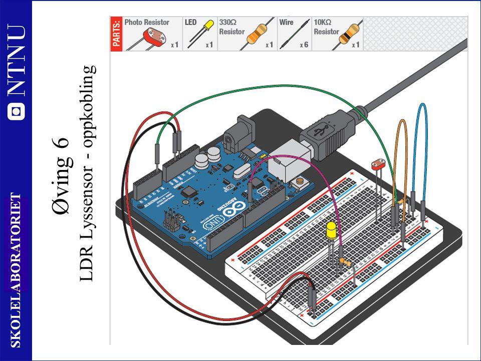 81 SKOLELABORATORIET Øving 6 LDR Lyssensor - oppkobling