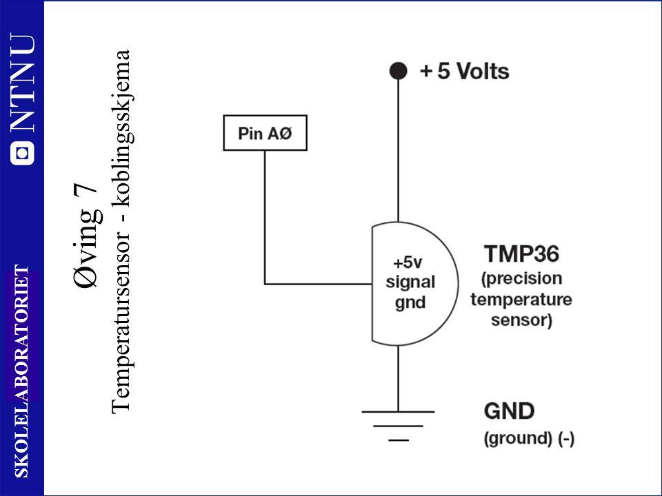 90 SKOLELABORATORIET Øving 7 Temperatursensor - koblingsskjema
