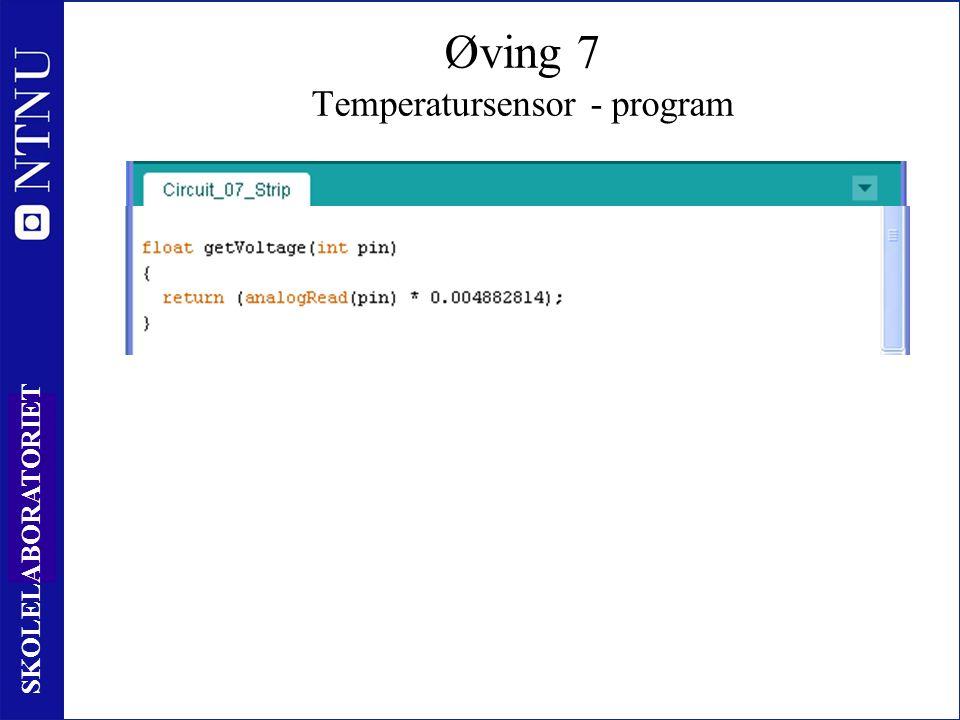 92 SKOLELABORATORIET Øving 7 Temperatursensor - program