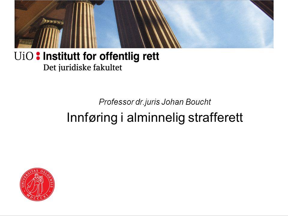 Professor dr.juris Johan Boucht Innføring i alminnelig strafferett