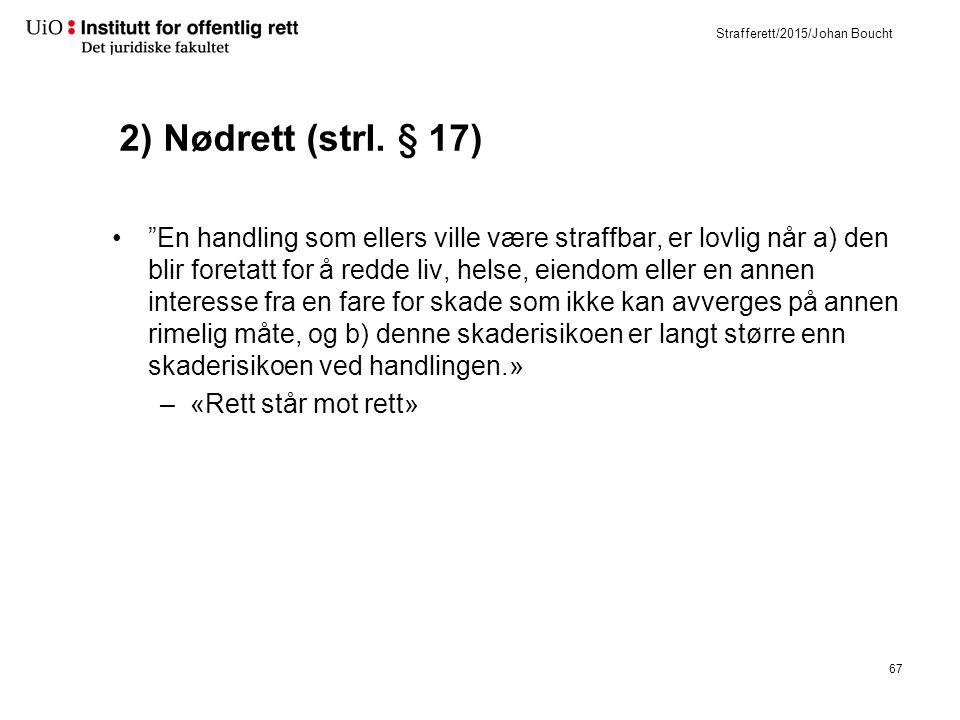 Strafferett/2015/Johan Boucht 2) Nødrett (strl.