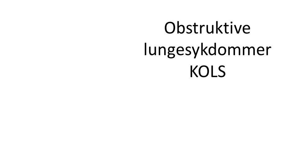 Obstruktive lungesykdommer KOLS