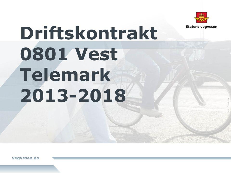 Driftskontrakt 0801 Vest Telemark 2013-2018