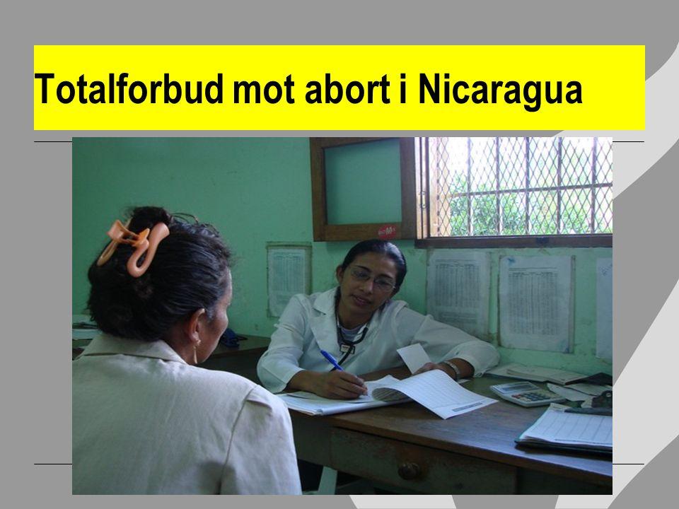 Totalforbud mot abort i Nicaragua