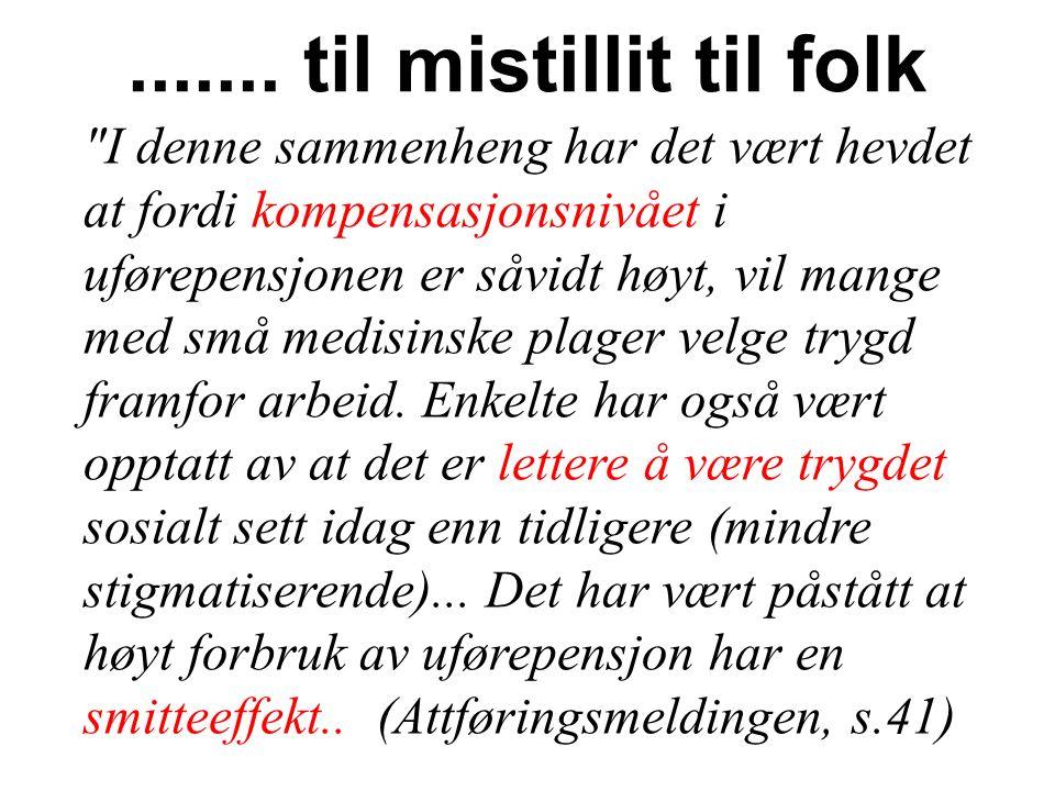 AP-politikeren Aslam Ahsan i VG 7.12.09: Norge har for gode systemer, som gjør det for attraktivt ikke å jobbe og som har bidratt til at nordmenn er blitt late