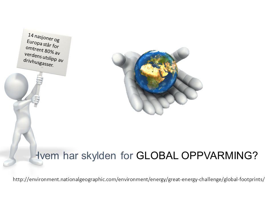 Hvem har skylden for GLOBAL OPPVARMING.