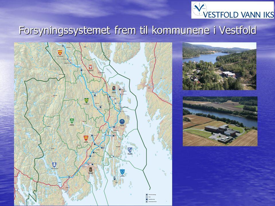 Forsyningssystemet til kommunene i Vestfold Hoved forsyning fra Vestfold Vann Hoved forsyning fra Vestfold Vann