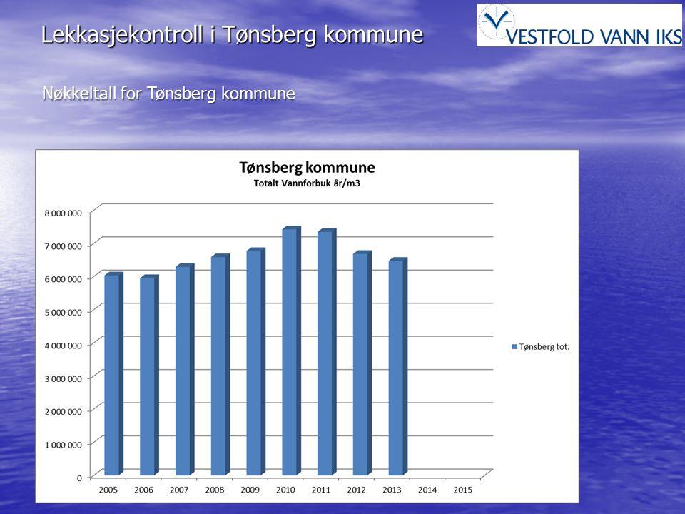 Lekkasjekontroll i Tønsberg kommune Nøkkeltall for Tønsberg kommune