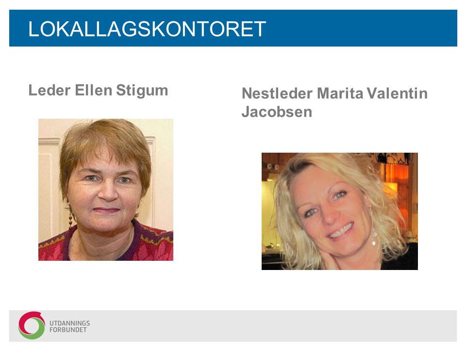 LOKALLAGSKONTORET Leder Ellen Stigum Nestleder Marita Valentin Jacobsen