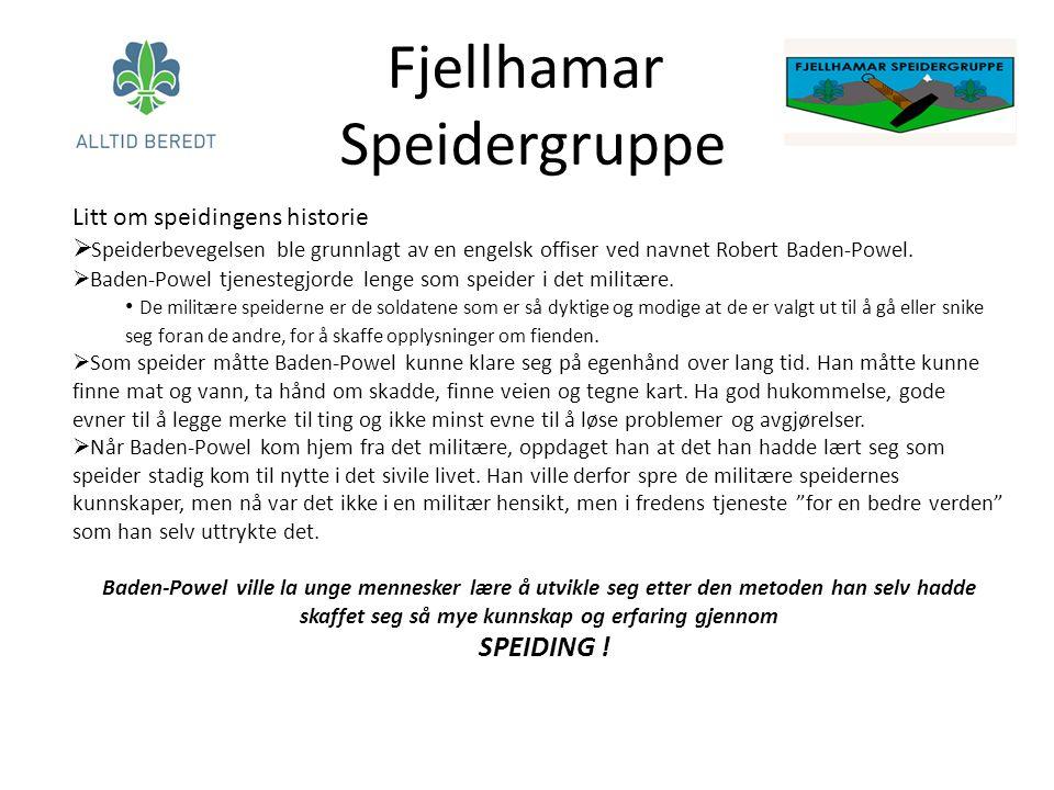 Litt om speidingens historie  Speiderbevegelsen ble grunnlagt av en engelsk offiser ved navnet Robert Baden-Powel.