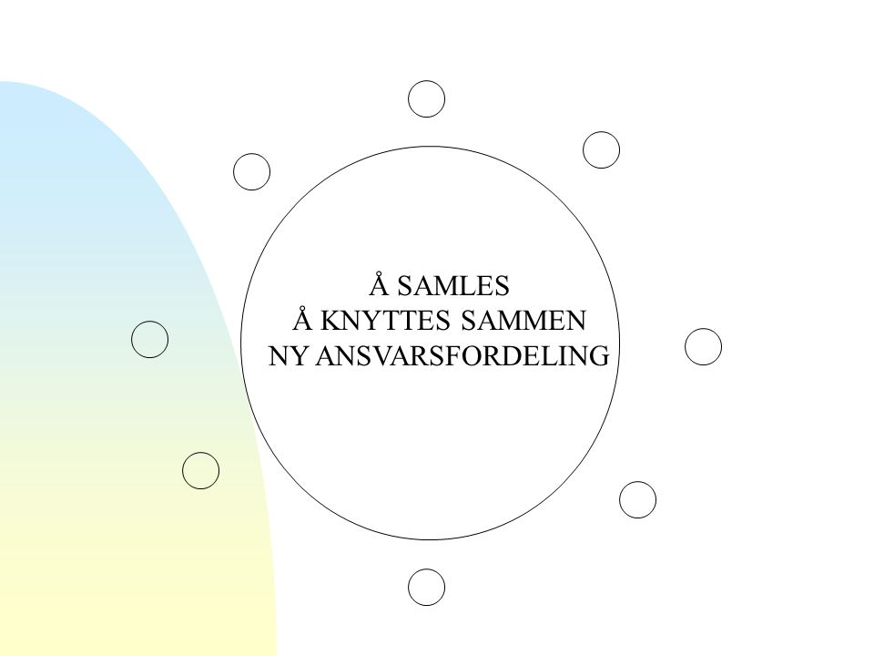 Å SAMLES Å KNYTTES SAMMEN NY ANSVARSFORDELING