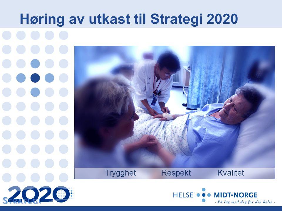 Høring av utkast til Strategi 2020 TrygghetRespektKvalitet