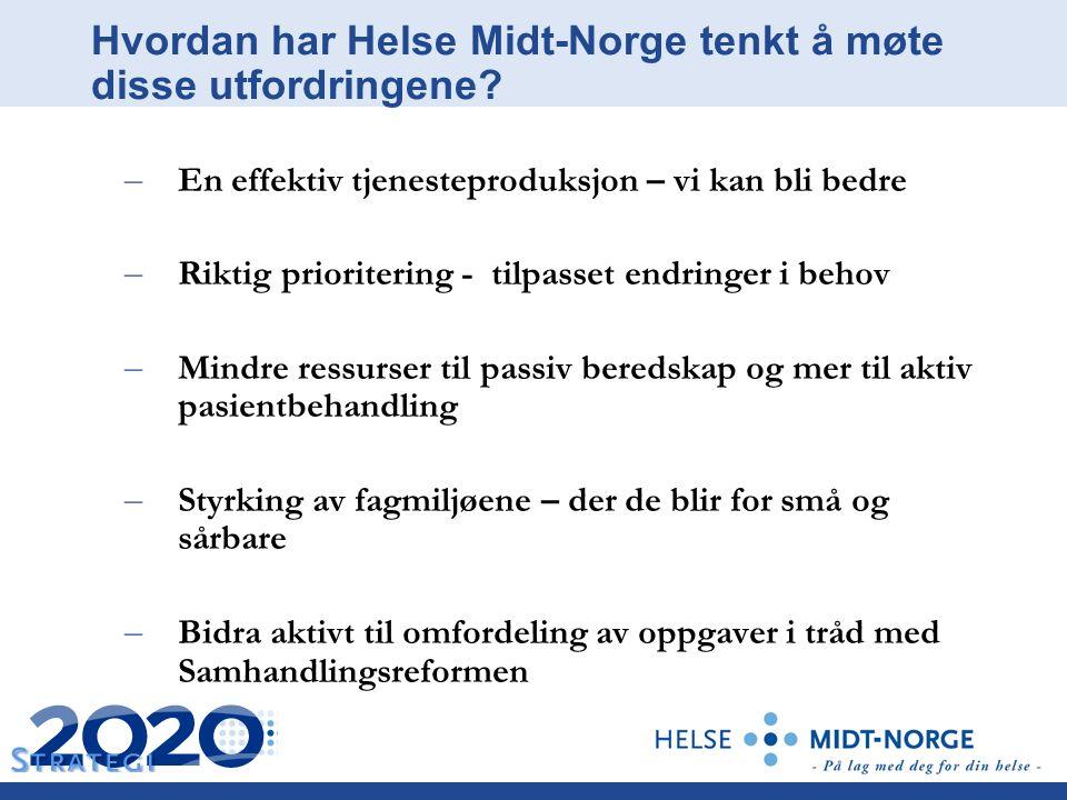 Hvordan har Helse Midt-Norge tenkt å møte disse utfordringene.