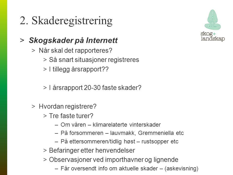 2. Skaderegistrering >Skogskader på Internett >Når skal det rapporteres.