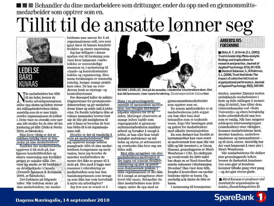Dagens Næringsliv, 14 september 2010