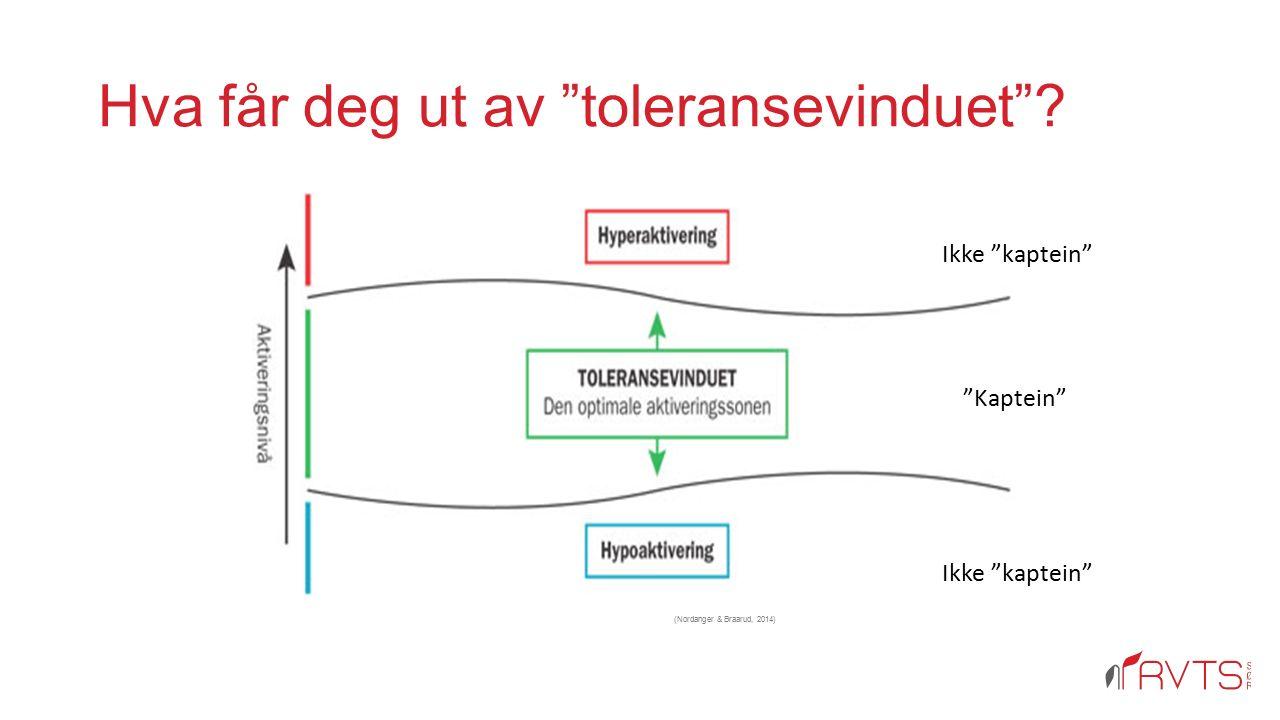 """Hva får deg ut av """"toleransevinduet""""? (Nordanger & Braarud, 2014) 21 Ikke """"kaptein"""" """"Kaptein"""" Ikke """"kaptein"""""""