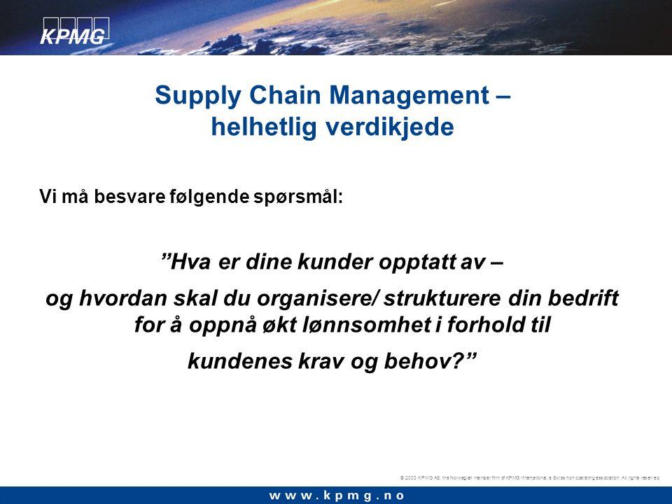 © 2003 KPMG AS, the Norwegian member firm of KPMG International, a Swiss non operating association.