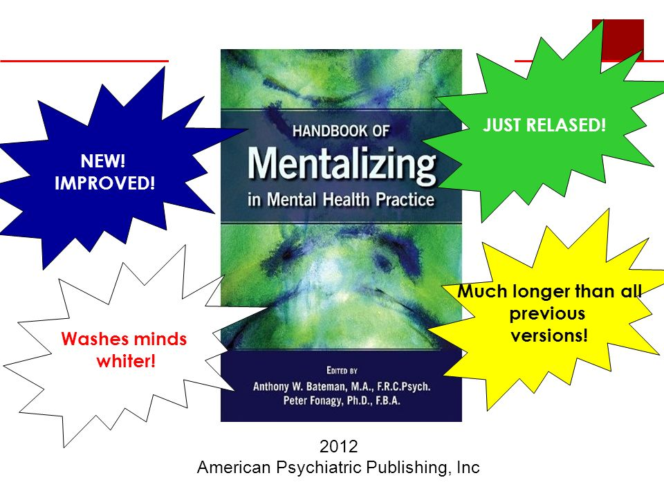 2012 American Psychiatric Publishing, Inc JUST RELASED.