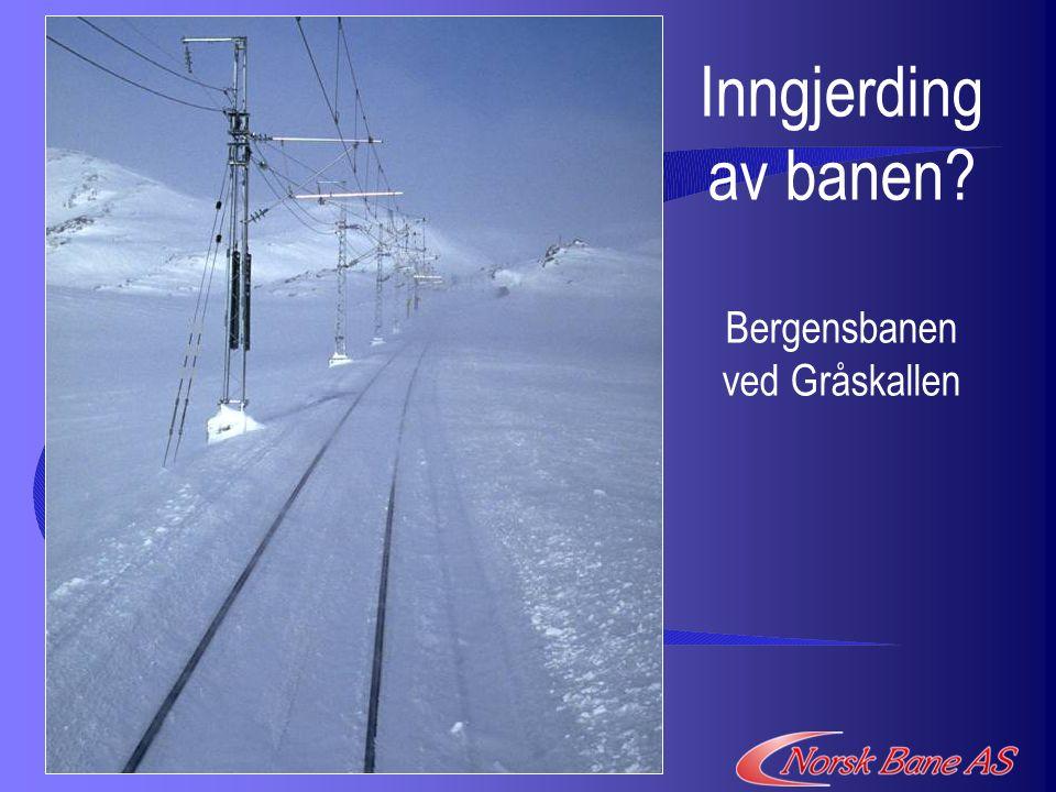 Inngjerding av banen Bergensbanen ved Gråskallen