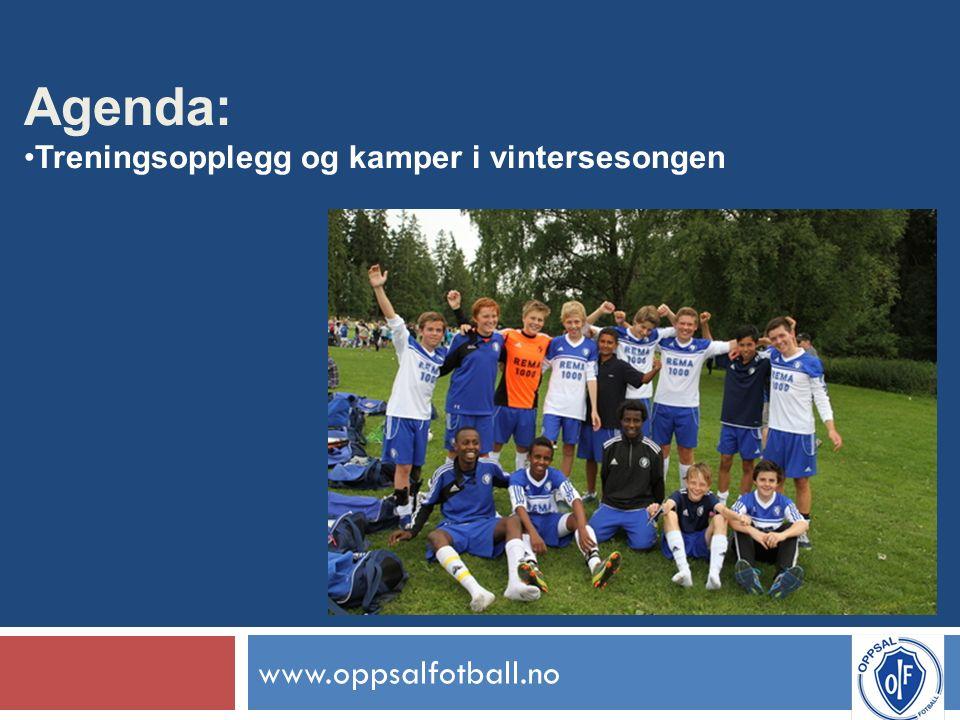 www.oppsalfotball.no Agenda: Treningsopplegg og kamper i vintersesongen