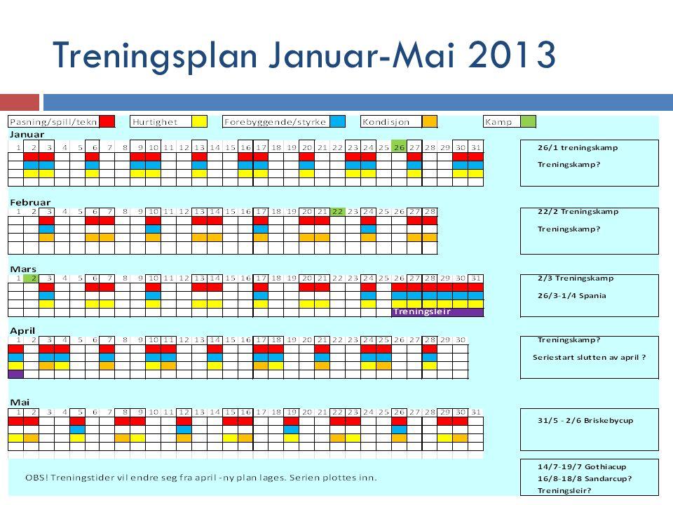 Treningsplan Januar-Mai 2013