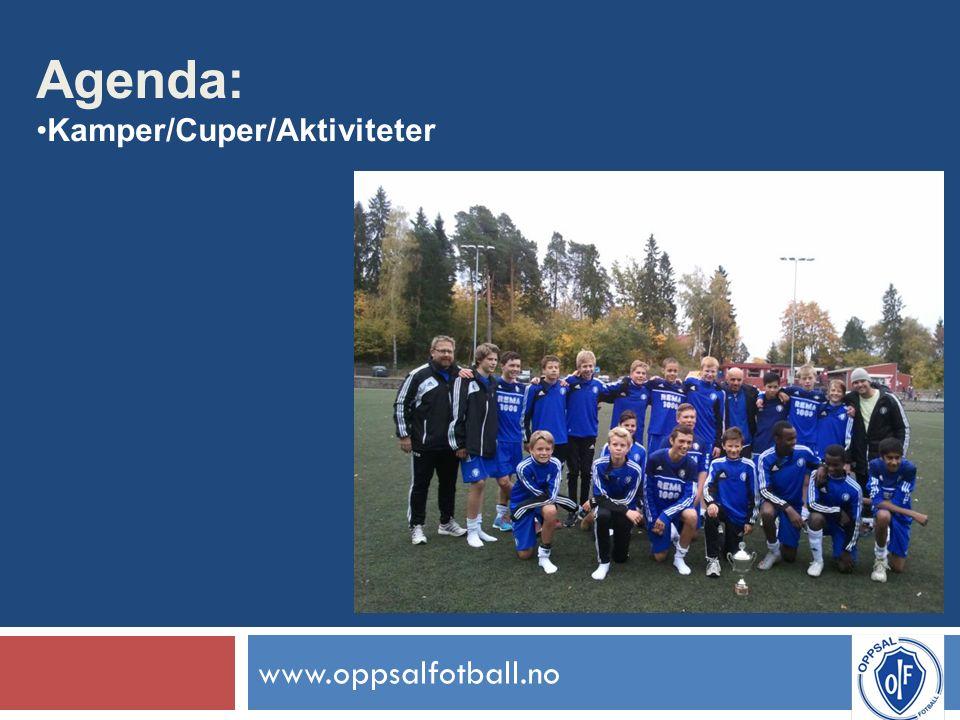 www.oppsalfotball.no Agenda: Kamper/Cuper/Aktiviteter