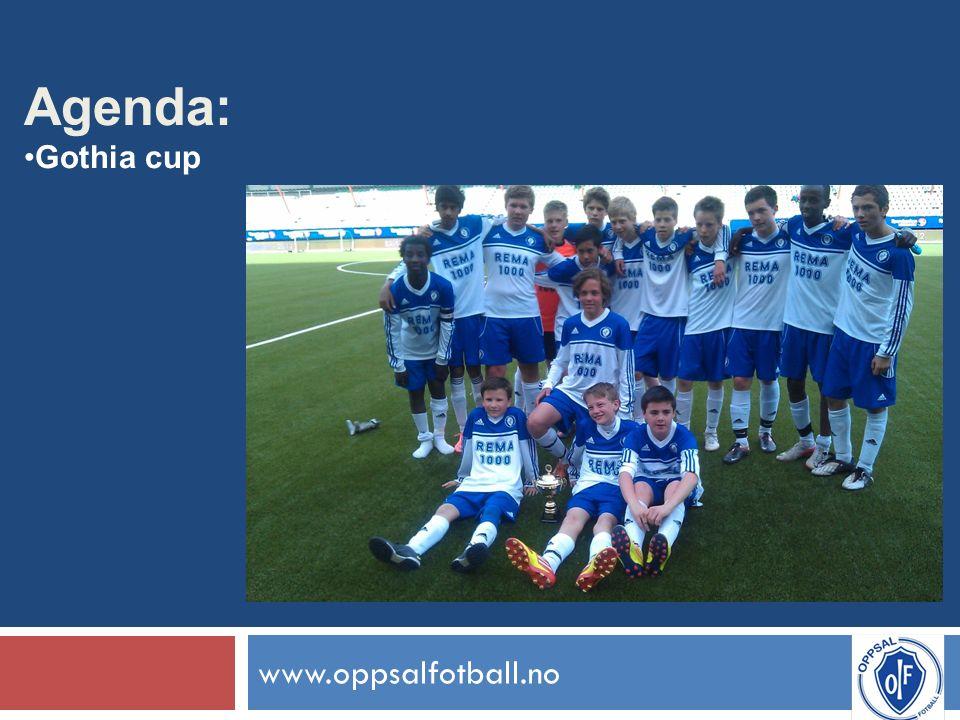 www.oppsalfotball.no Agenda: Gothia cup