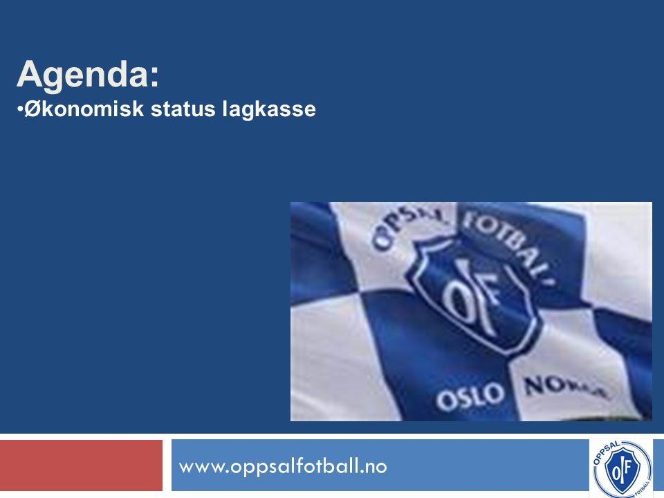 www.oppsalfotball.no Agenda: Økonomisk status lagkasse