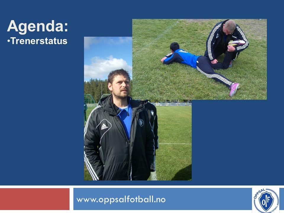 www.oppsalfotball.no Agenda: Trenerstatus
