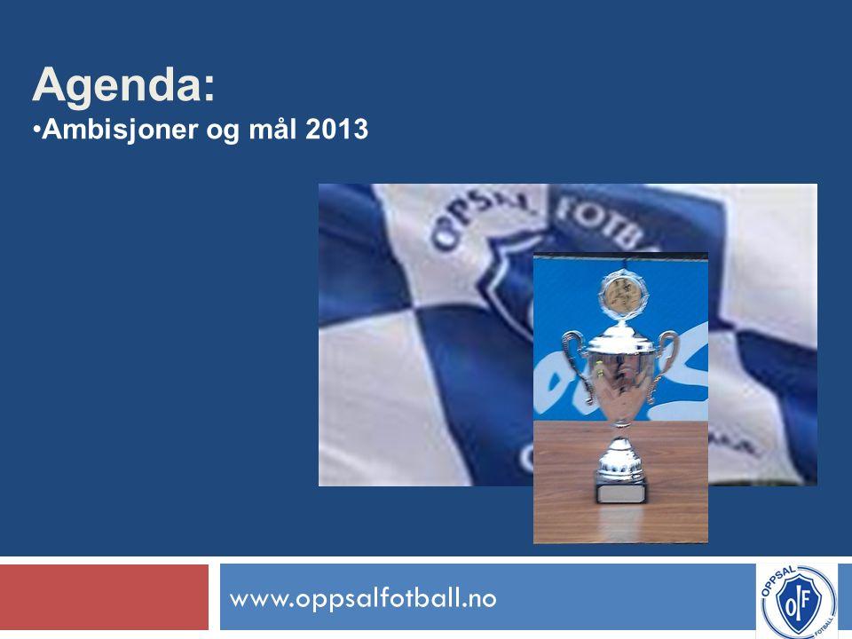 www.oppsalfotball.no Agenda: Ambisjoner og mål 2013