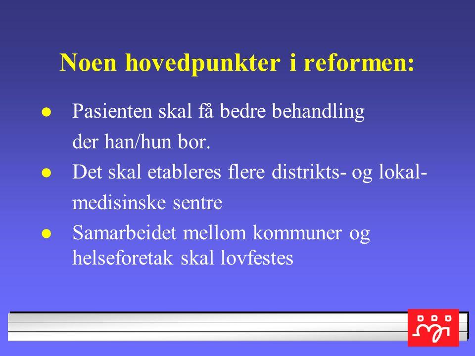 Dagens tilbud ikke godt nok Leder av Helse- og omsorgskomiteen på Stortinget, Bent Høie, - Tilbudet er ikke godt nok utbygd på enkelte områder.