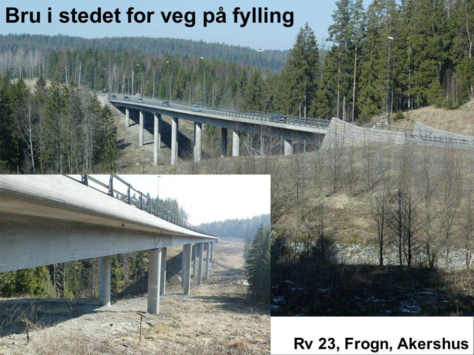 Rv 23, Frogn, Akershus Bru i stedet for veg på fylling