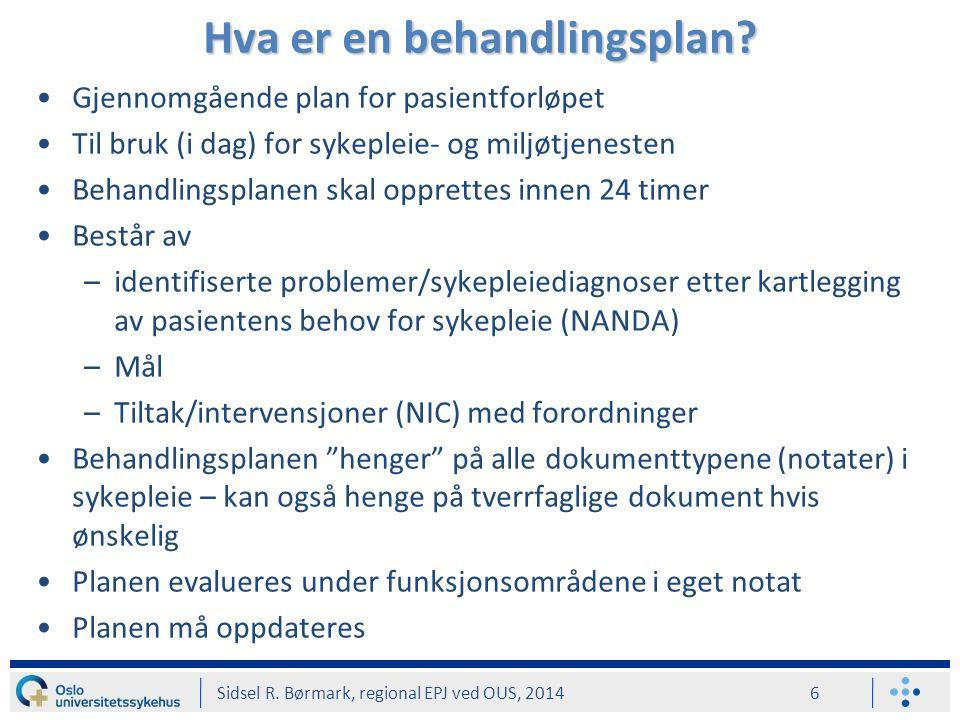 Hvordan se på definisjon på valgt kode? Sidsel R. Børmark, regional EPJ ved OUS, 2014 17